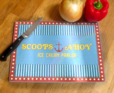 Arnold/'s Drive In Restaurant From Happy Days Tempered Glass Chopping Board